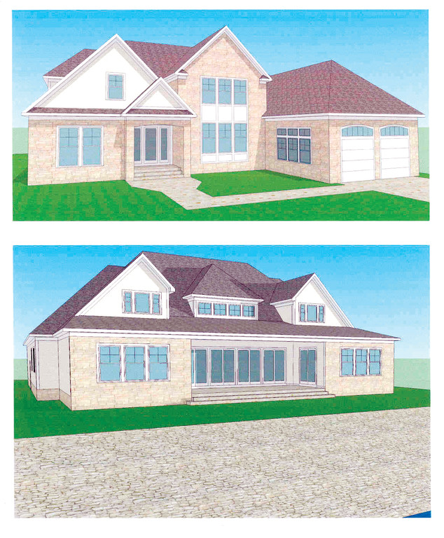 WHAT'S PLANNED: An architect's rendering of the house David Cesario hopes to build in Potowomut.