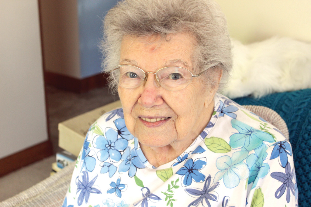 HAPPY, HEALTHY: Helen Conklin, 97, has chronic kidney disease, but it doesn't stop her from staying healthy. After staffers at Fresenius Medical Care taught her how to use peritoneal dialysis, a mode of dialysis that allows her to dialyze at home, she educates others of the benefits.