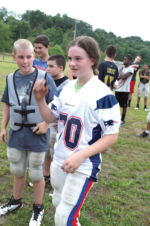 Jessica Ginaitt, PAL football�s only girl, is a returning player.