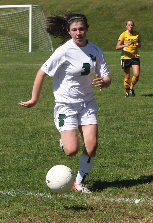 KEY COGS: Page Oram chases a ball down the sidelines.