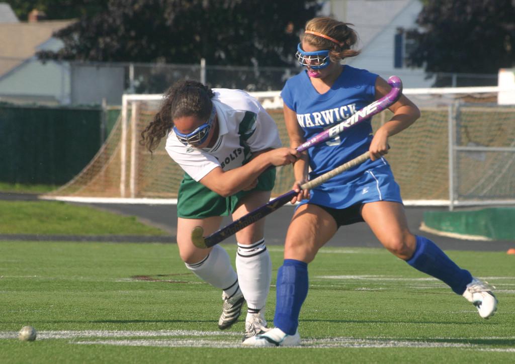 ONE ON ONE: Vets' Gabby Korlacki battles for the ball in a game last season. Korlacki returns to the Vets midfield this year.