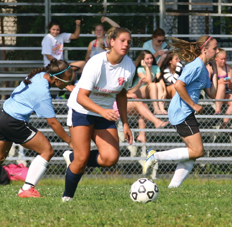 SCORING TOUCH: Courtney Crowley, pictured during the Warwick Vets Fall Soccer Tournament, should be the Titans' top scoring option this year as they look to compete again in Division I.
