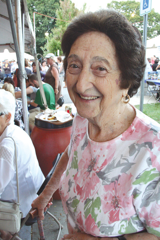 Helen Mihailides Pappas, 93, who has been to all 28 festivals, even as a youngster when the event was a one-day picnic. Her late father, Rev. Peter G. Mihailides, was the longtime priest at the Greek Orthodox Church that was once located on Pine Street in Providence and for whom the parish center is named.