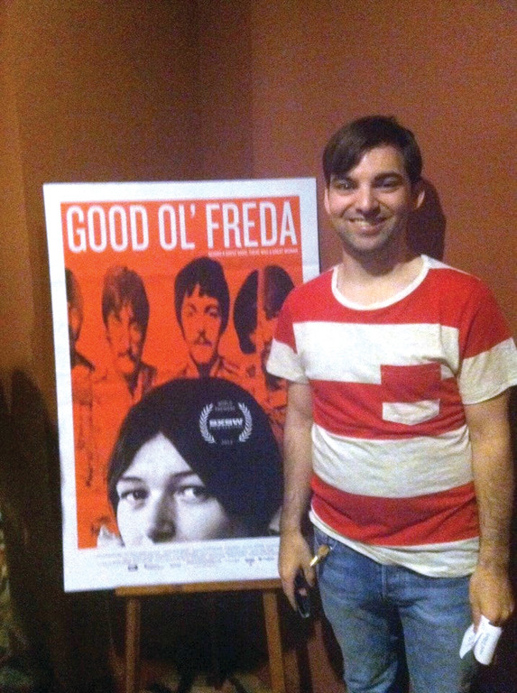 "POSTER BOY: Paul Koch Jr. wrote the music for ""Good Ol' Freda,"" a film about the experiences of a 17-year-old Liverpool girl who became the secretary and gatekeeper for John, Paul, George and Ringo at the beginning of the Beatles. The film opens at the Cable Car Cinema on Sept. 20."