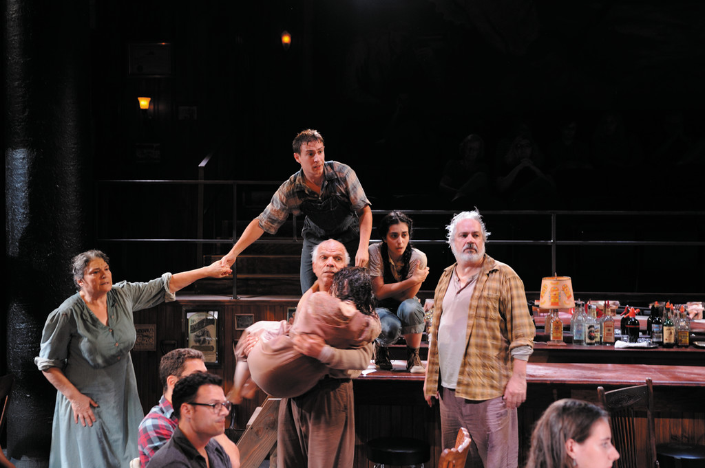 Anne Scurria, Ted Miller, Richard Donelly, Nikki Massoud and Fred Sullivan, Jr. in John Steinbeck's The Grapes of Wrath.