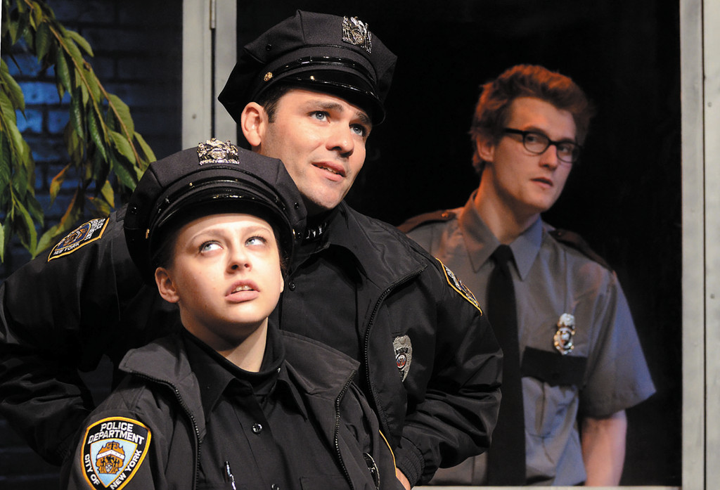"2nd Story Theatre presents ""Lobby Hero,"" with Valerie Westgate, Ara Boghigian and Jeff Church."