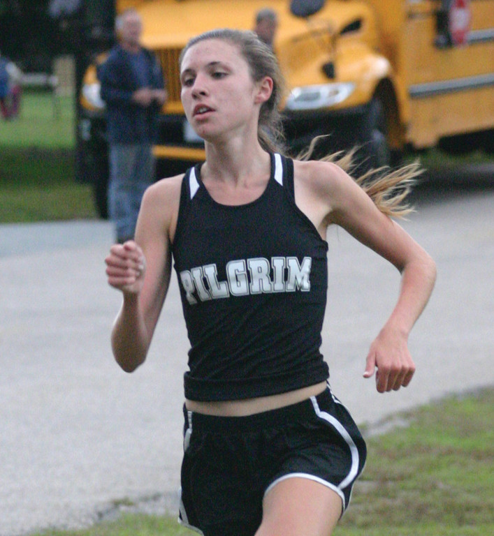 LEADING THE WAY: Danika Wayss flies toward the finish line.