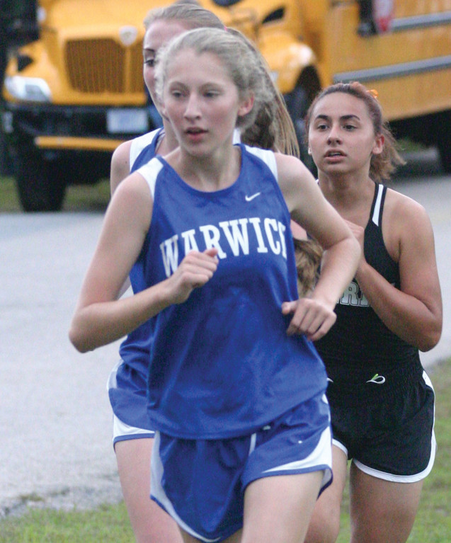 Sarah Grace Plante sets the pace.