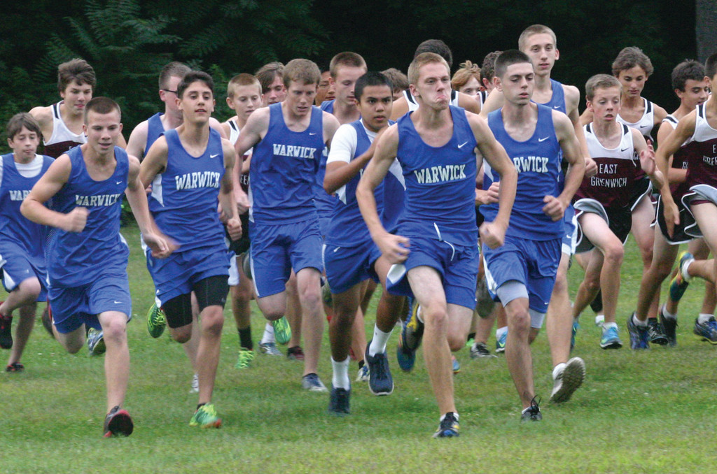 LEADING THE PACK: Ian Anderson breaks out to the front of the pack.