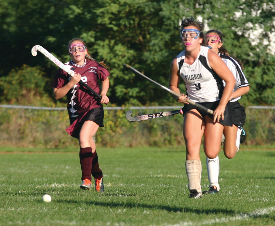 FAMILY AFFAIR: Chrissy Cavanagh chases down a loose ball in Friday