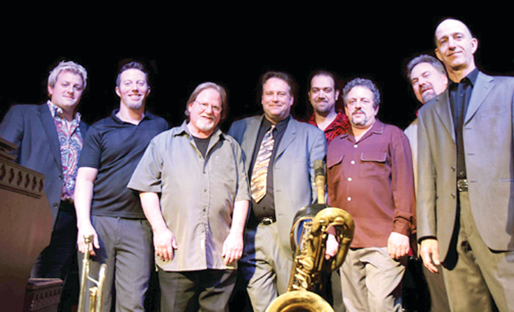 Roomful of Blues. (left to right) Doug Woolverton, Travis Colby, John Turner, Phil Pemberton, Ephraim Lowell, Chris Vachon, Mark Earley, Rich Lataille