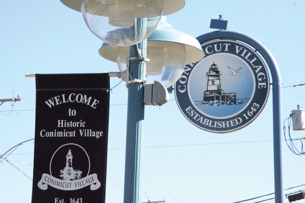 IDEAS FOR CONIMICUT: Conimicut Village residents and businesses will be asked for their suggestions for the expenditure of $100,000 in federal funding at a community meeting tonight. Signage and lights are projects that have been funded by prior grants.