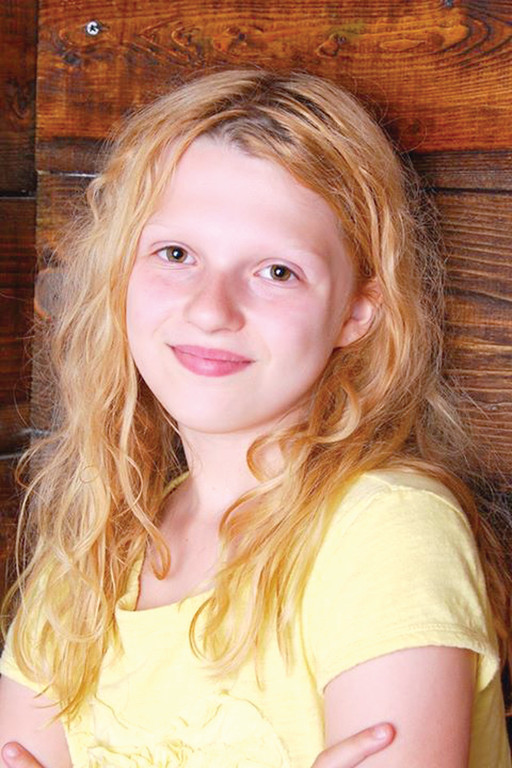 STAR ON THE RISE: Warwick native Aidan Desjarlais, 10, is ready to take her place in the spotlight as Young Cosette in Stadium Theatre and Encore Repertory Company