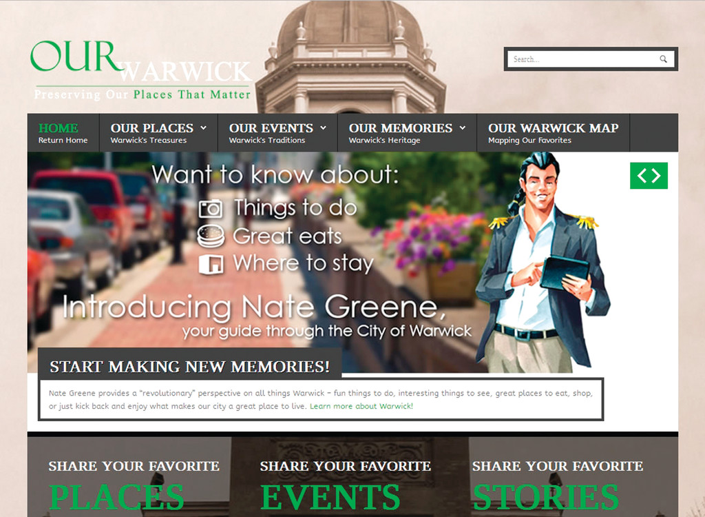 Home page of the city