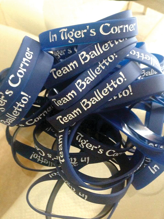 These are the bracelets that George Arakelian and his wife Gina Sabitoni-Arakelian sold in hopes of raising $10,000 to benefit now paralyzed one-time professional boxing champion Gary