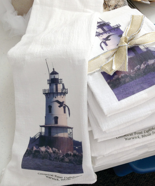 SHINING LIGHT: Towels are among the many items that will feature a nautical or lighthouse theme at the upcoming Woodbury Union bazaar.