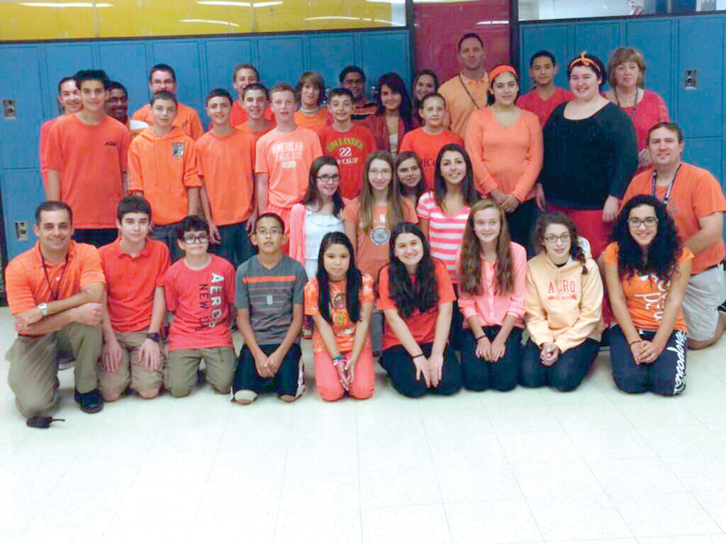A SAMPLING OF STUDENT PARTICIPATION: It was a sea of orange at Western Hills Middle School on Sept. 27 as Go Orange Day took place across the city.
