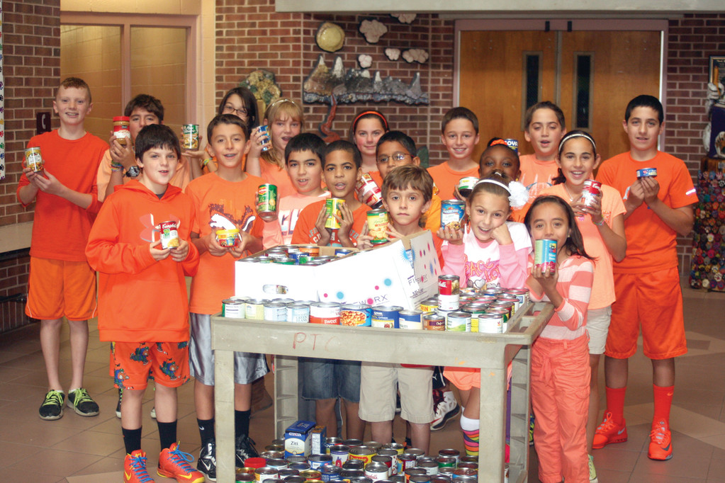 STUDENT COUNCIL LEADS THE WAY: The student council at Hope Highlands Elementary School ran the Go Orange Day, bringing in food and monetary donations for No Kid Hungry.