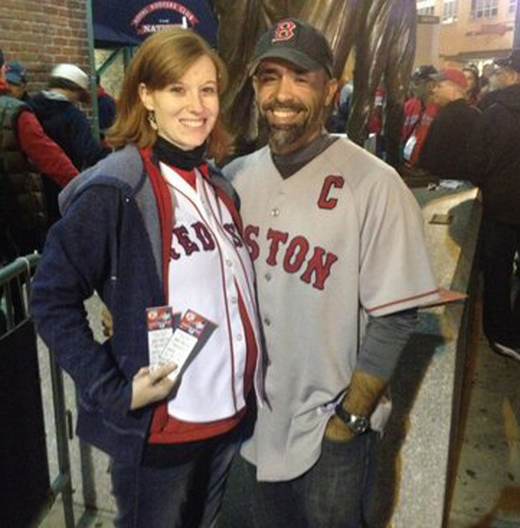 BABY'S FIRST SERIES: Kelly and Mike Xiarhos won World Series tickets with a pitch to name their baby Fenway.