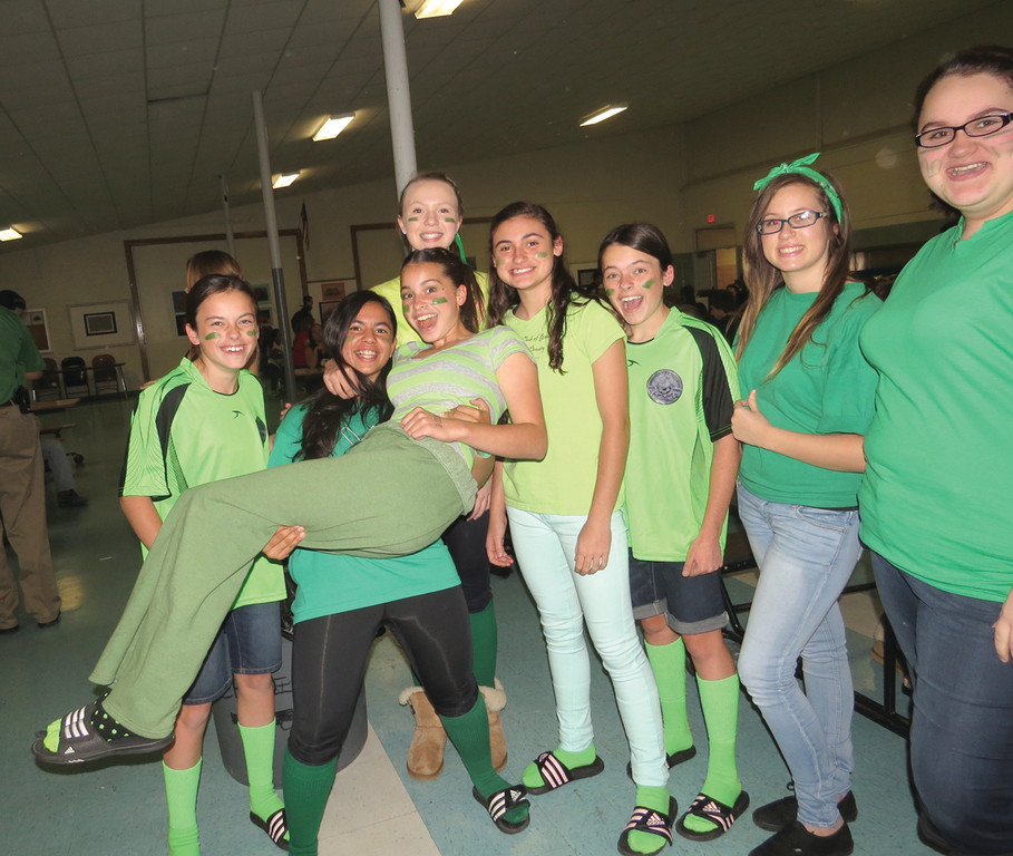 Vets freshmen show off their class spirit during Wednesday's Class Color day.