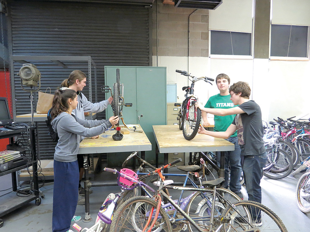 PICKING UP SPEED: Without even really diving into their advertising campaign, word of mouth has helped the crew collect 25 bikes, which will be repaired by Toll Gate Technology students. Their goal is 50, but they will continue to collect through the spring.