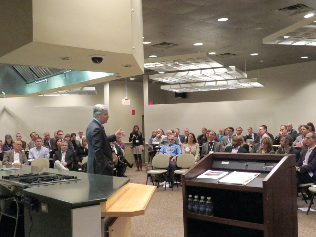 "PREACHING TO THE CLIMATE CHANGE CHOIR: Senator Sheldon Whitehouse was the keynote speaker for Friday's EPA Climate Leaders Summit, where he told regional leaders in environmental, business and government that Congress is close to ""waking up"" and taking action on climate change."