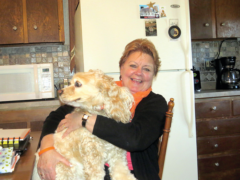 BEST THERAPY: Kathy Crudele credits the work of RI Rehab and the support of the MS Society and her family with helping turn her life around after her MS diagnosis. She also calls her adopted cocker spaniel, Benjamin, her perfect therapy dog.