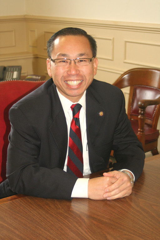 HAVING COME SO FAR: Cranton's Mayor Allan Fung is in the middle of his second term and has just announced that he will run for governor of Rhode Island for 2014.