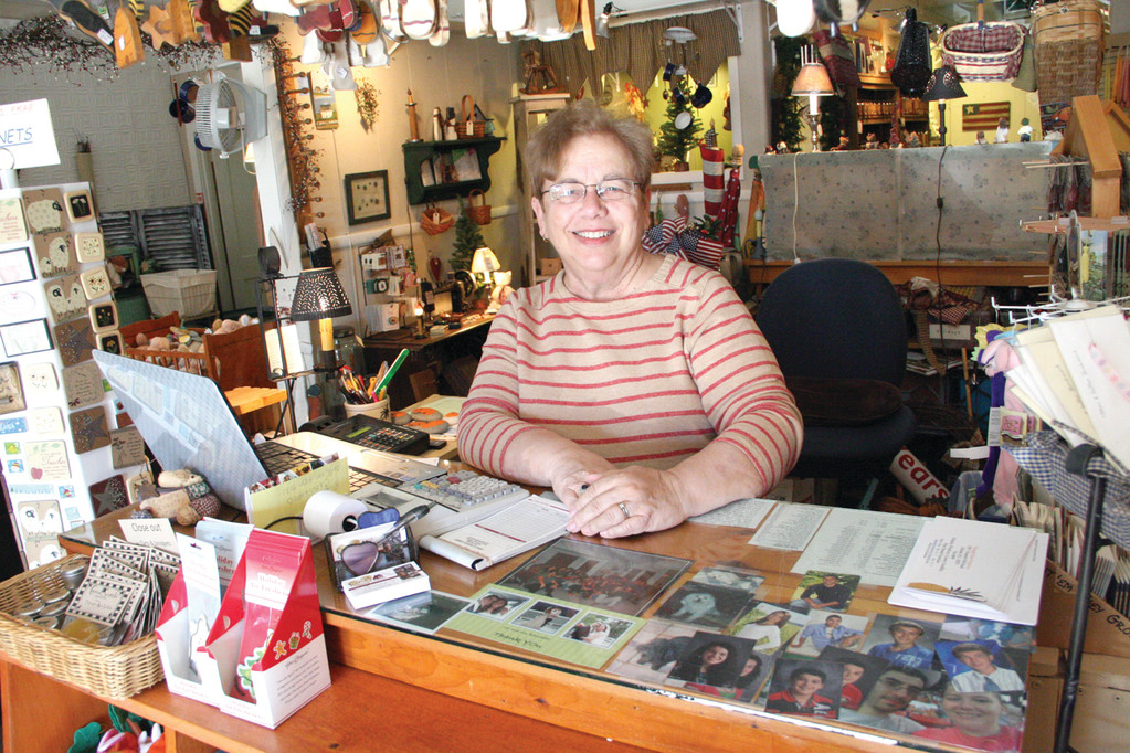 AT THE HEART OF A VILLAGE: Carol Pratt will be closing Carol's Country Corner, but she'll remain active in Apponaug affairs.