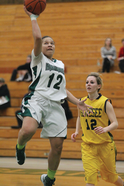 ON THE DRIVE: CCRI's Ahnyyah Jackson heads to the basket in a game last year.