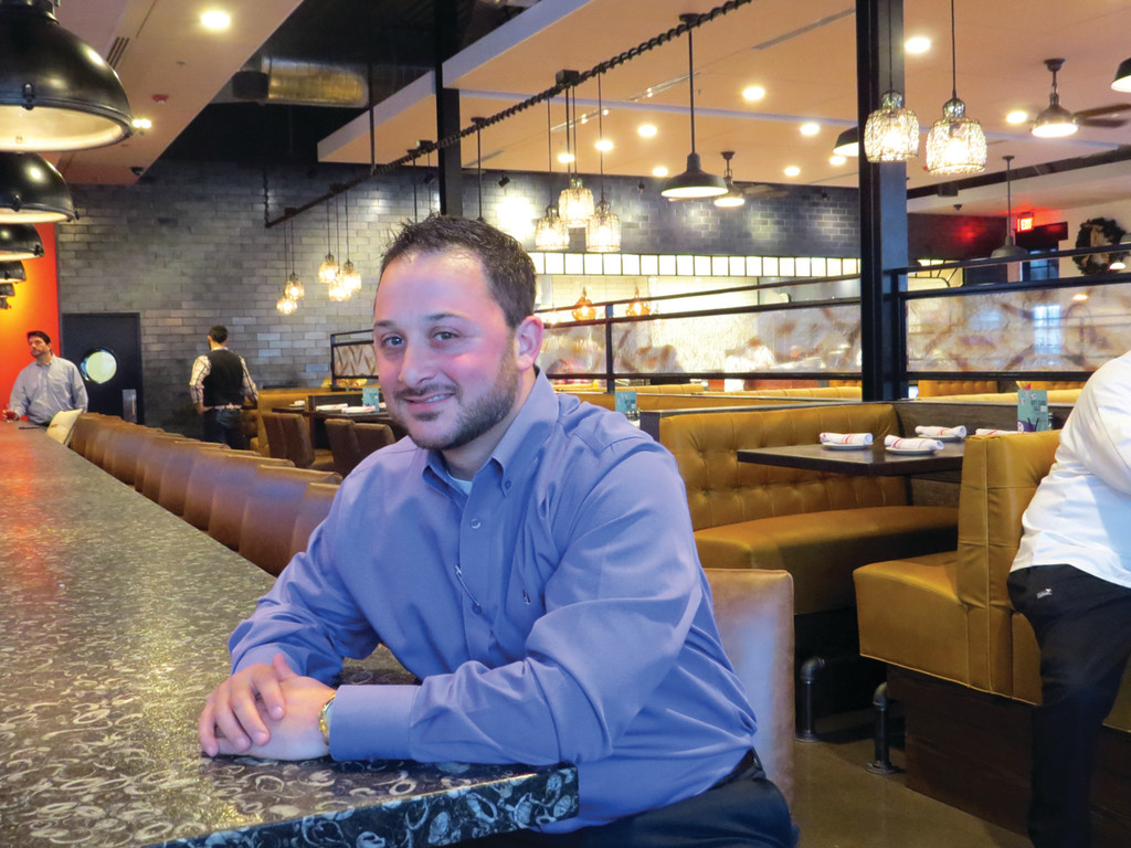 LEADER OF TEAM: Not Your Average Joe's General Manager Seth Caplan has been with the company for over nine years and opened five of their locations, including the new Warwick location. He said he and the rest of the team are excited about their first Rhode Island location and ready to serve.