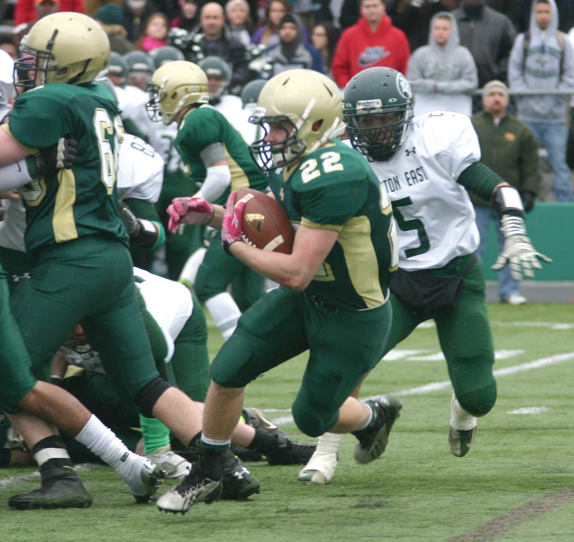 COMING ALIVE: Hendricken running back Remington Blue led an unprecedented offensive explosion on Sunday.