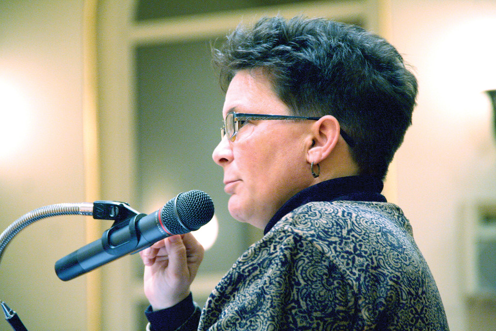 PROVIDING DETAILS: Janine Burke, executive director of the Warwick Sewer Authority, answers questions at Monday's meeting where the City Council approved authorization of $56 million in sewer revenue bonds.