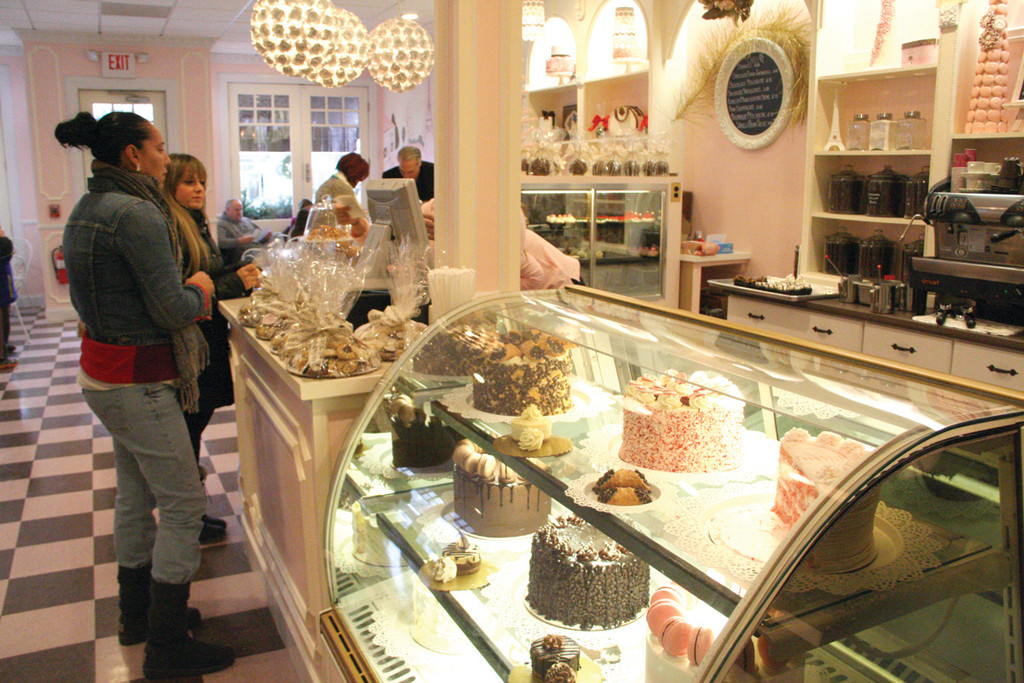 NEWLY OPEN: Sweet Indulgence offered free samples of their hot chocolate and enticing views of their cakes, cookies and other goodies that were too hard to resist.