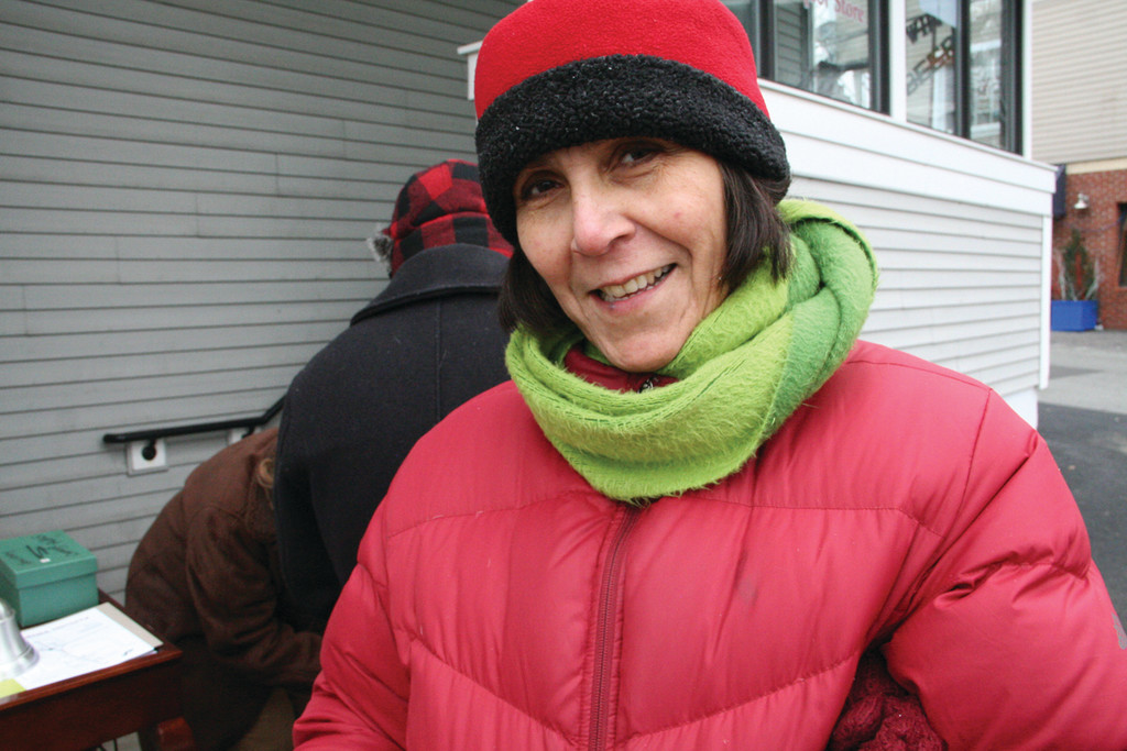 KEY ORGANIZER: Marta Martinez, chair of the Friends of Pawtuxet Village, organized the village Christmas celebration, lining up events and participating merchants on both sides of the bridge.