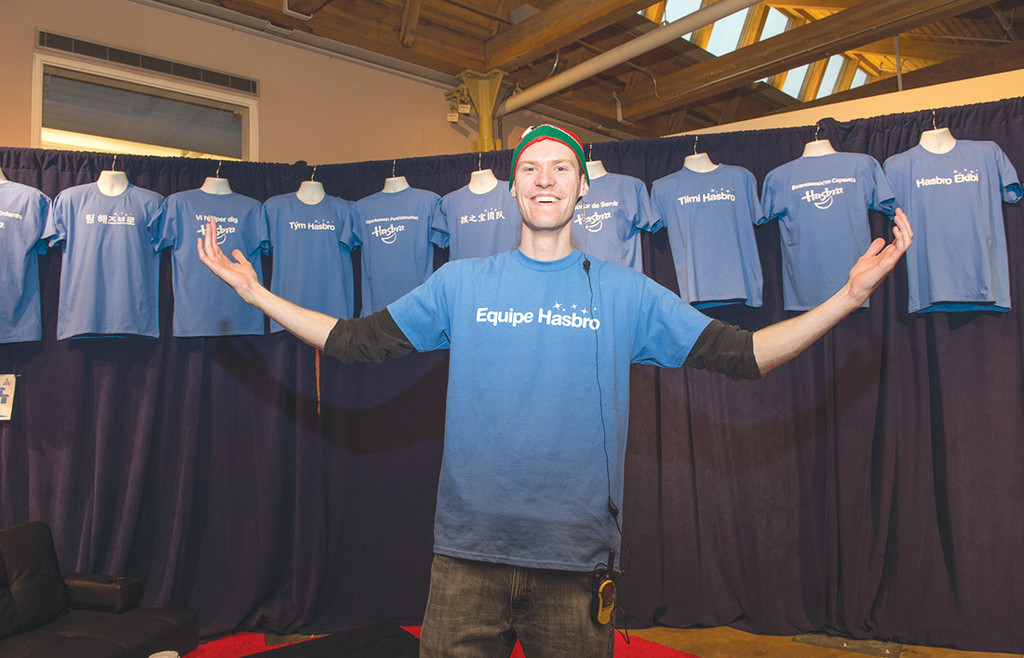 "HEAD ELF: Kevin Colman served as the ""Head Elf"" for Hasbro's Global Day of Caring, helping coordinate volunteers in 35 countries."