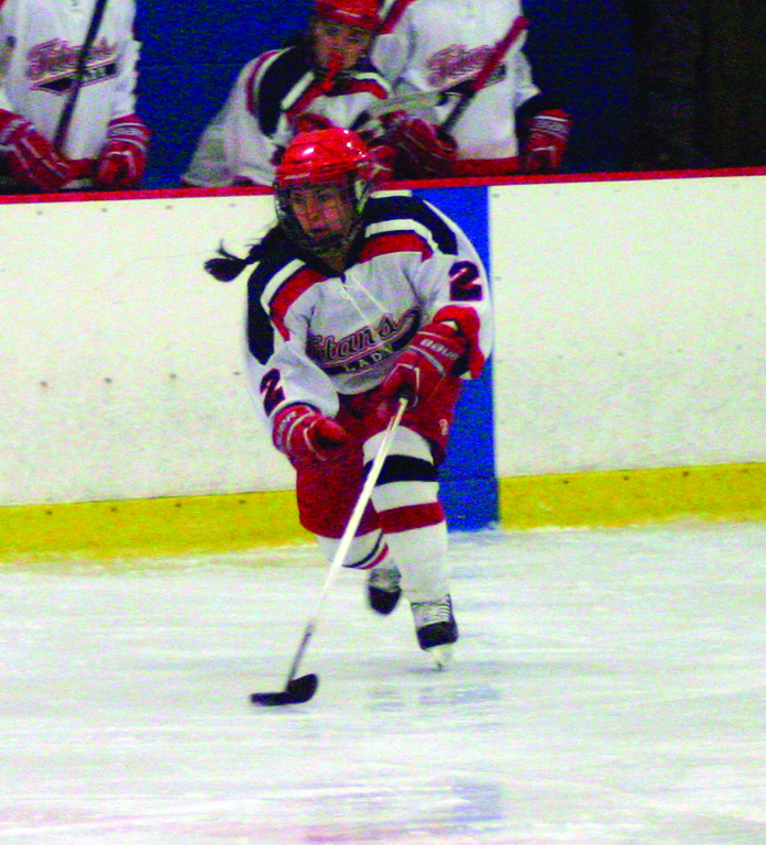 OPEN ICE: Victoria LaFazia skates through the neutral zone during Saturday's win over Burrillville/Ponaganset.
