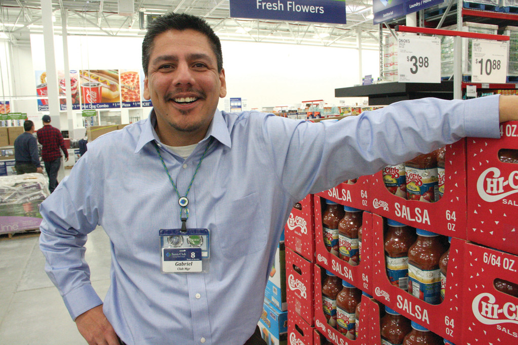 READY AGAIN: Gabriel Urueta, manager, says the new Sam's Club will be ready for members Jan. 23. The former club that closed in 2011 was demolished; the one one being built in exactly the same place.
