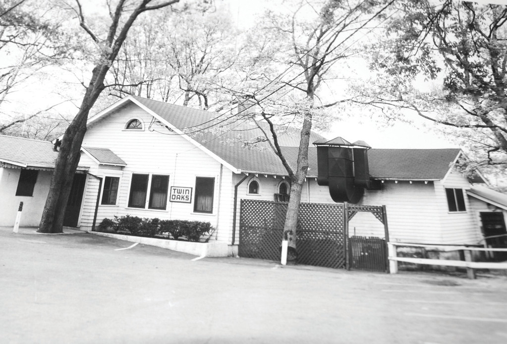THEN: The original Twin Oaks circa 1950, prior to the many additions added throughout the decades.