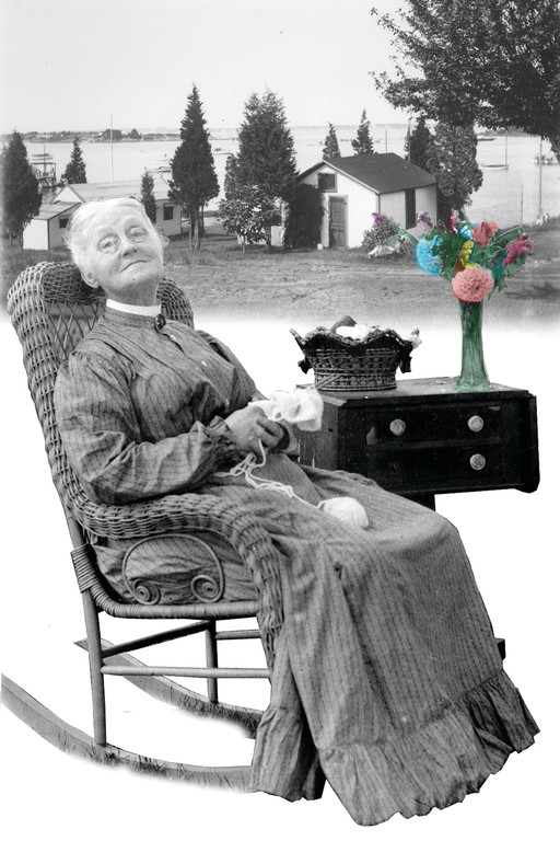 "Maude Cole, one of the 19th century residents of Cole Farm, was reigning queen of the camp at the turn of the 20th century, when the farm was a Mecca for clambakes. ""She liked her gin,"" according to family legend, which may account for her serene demeanor."