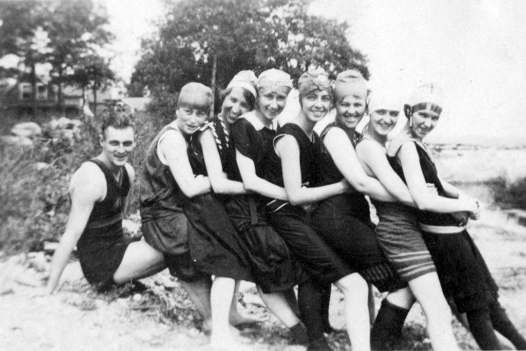 FIELD DAYS AND MODESTY: Although the bathing suits were modest, it didn't keep young men and woman from socializing on field days and picnics at Cole Farm in the early half of the 20th century.