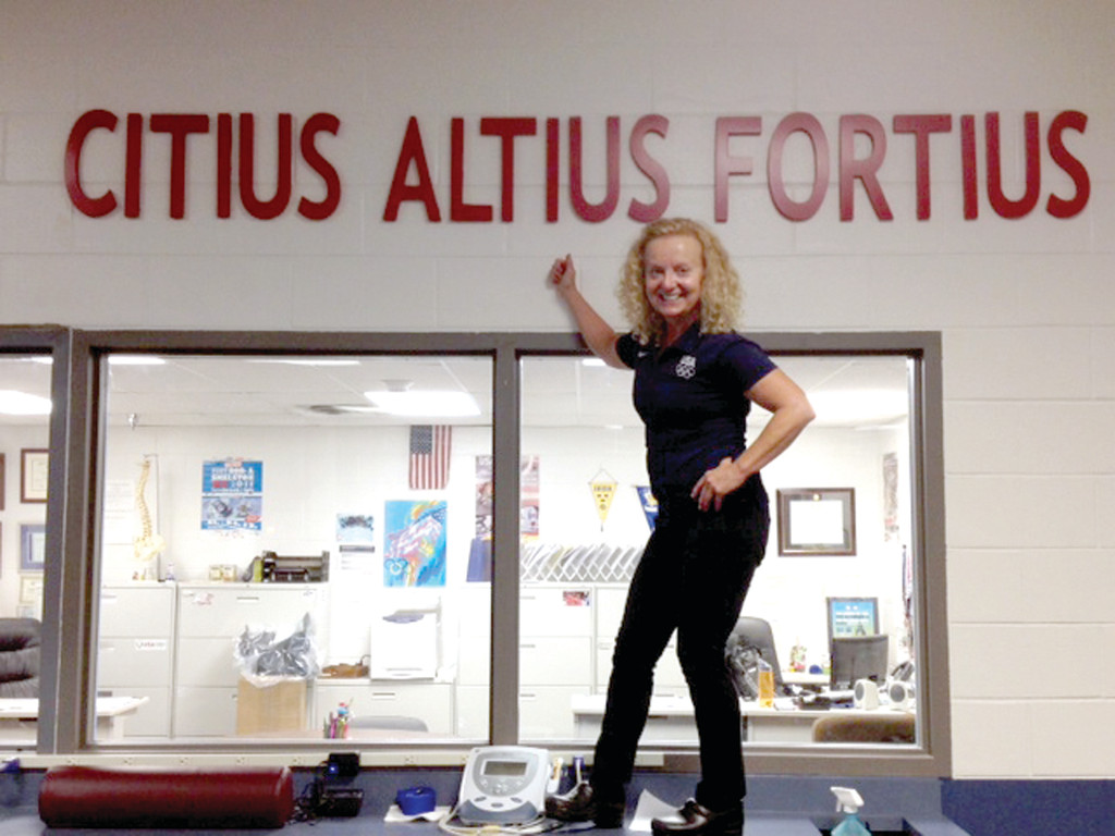 Sports massage therapist Lou Ann Botsford, who works at the Northeast Sports Training facility in Warwick and teaches sports massage classes at the CCRI Newport campus, will support the U.S. Men's Ski Jumping team at the Winter Olympics in Russia.
