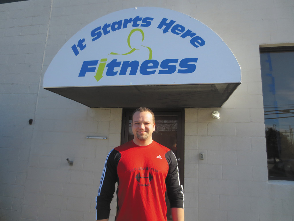 Brad Lane, a certified personal trainer, welcomes you to the grand opening of his new gym, It Starts Here Fitness on Jefferson Boulevard.