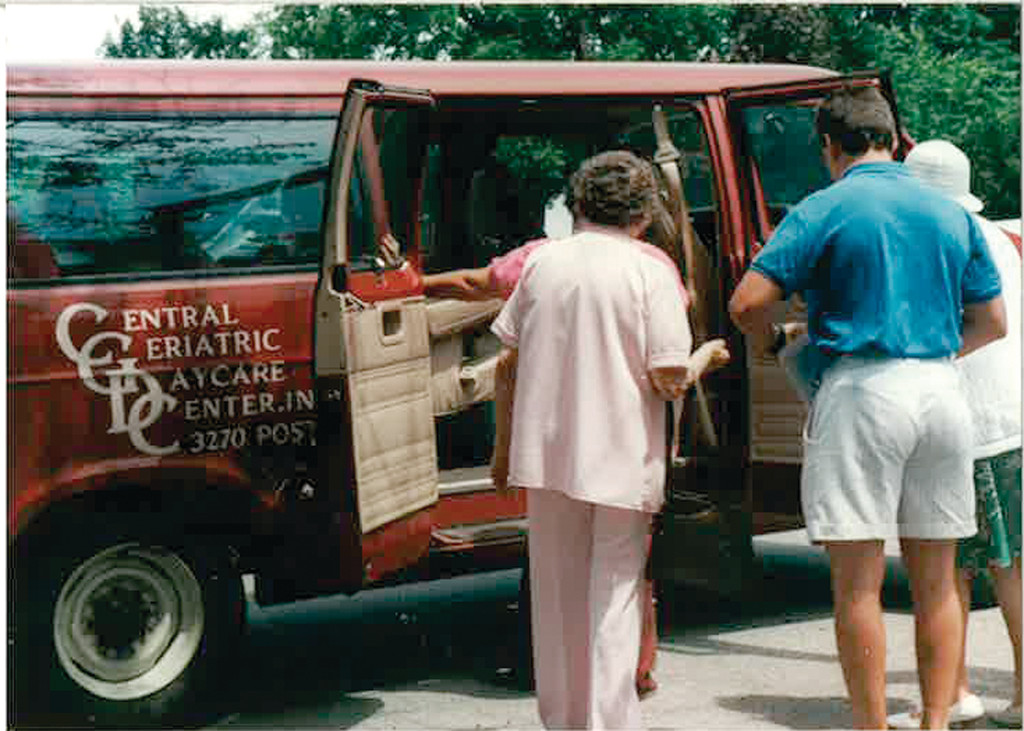 CLASSIC RIDE: Participants in the Central Geriatric Day Care, as Cornerstone was known, used to be transported to the program in a community van in 1985.