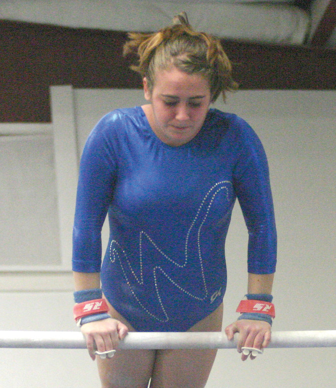 Haley Gayer goes through her bar routine.