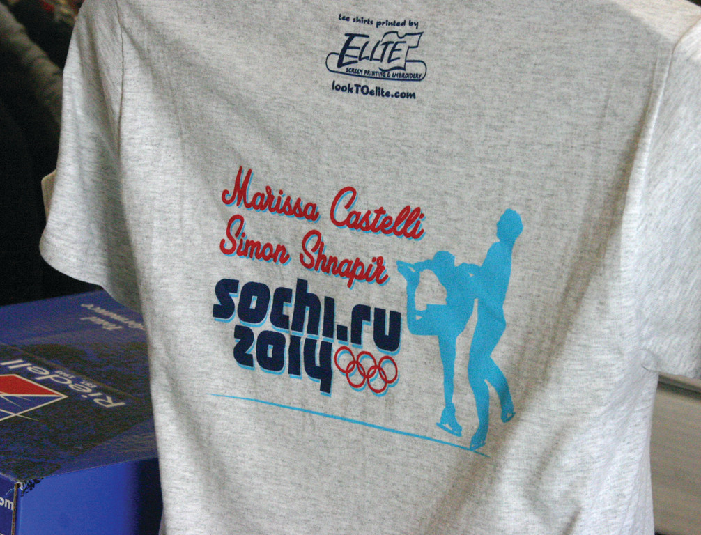 PITCHING IN: Shirts celebrating Marissa Castelli are on sale at Warwick�s Elite Screen Printing.