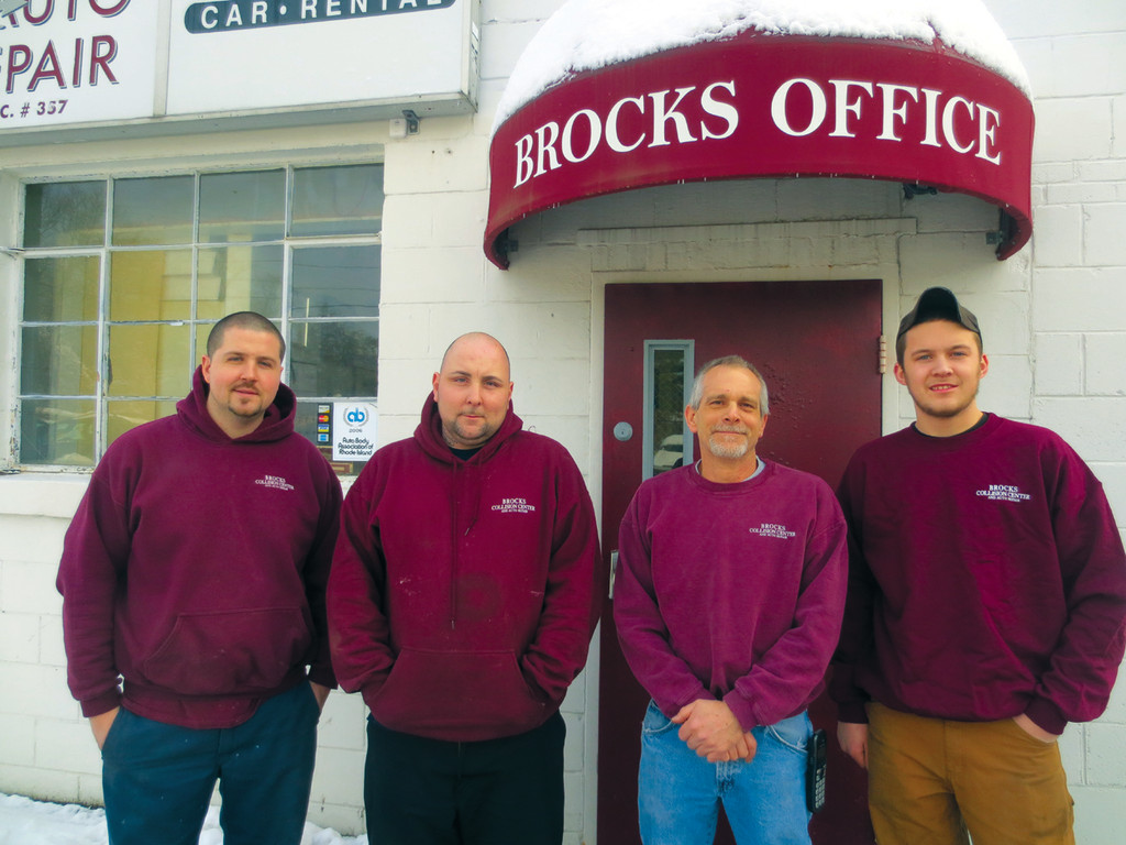 "Meet the team at Brock's Collision Center & Auto Repair in Apponaug ~ Mike, Phil, owner ""Brock"" and Zadok."