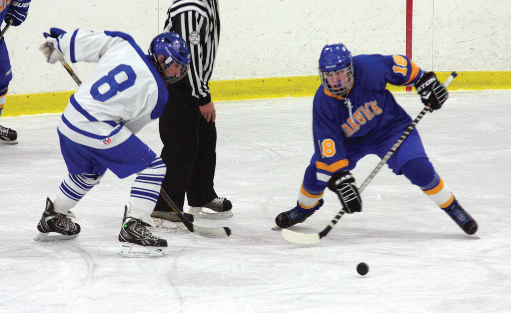 CONTROL: Vets' Brandon Major wins a face-off in Friday's game against Scituate. The Spartans handed Vets a 4-1 loss, and the 'Canes couldn't regroup in a loss to Ponaganset on Saturday.