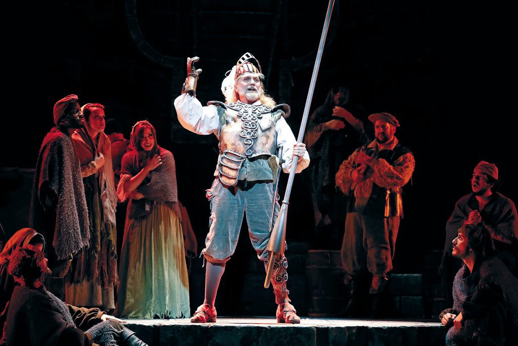 "Jack E. Curenton as Don Quixote in ""Man of La Mancha"" at PPAC."