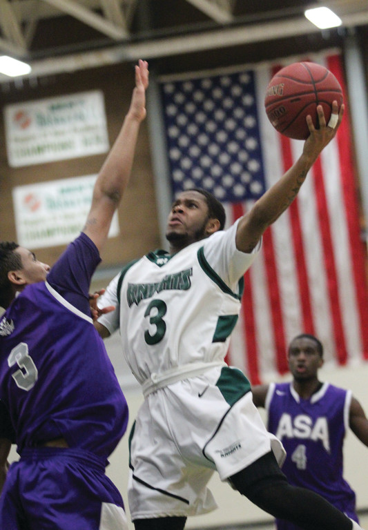 SOARING: Anthony Jernigan flies to the basket during CCRI's upset of ASA.